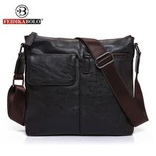 FEIDIKA BOLO Brand Messenger Bag Men Shoulder Bag Man Satchels Handbags PU Leather Sling Bags designer Men Crossbody Bags