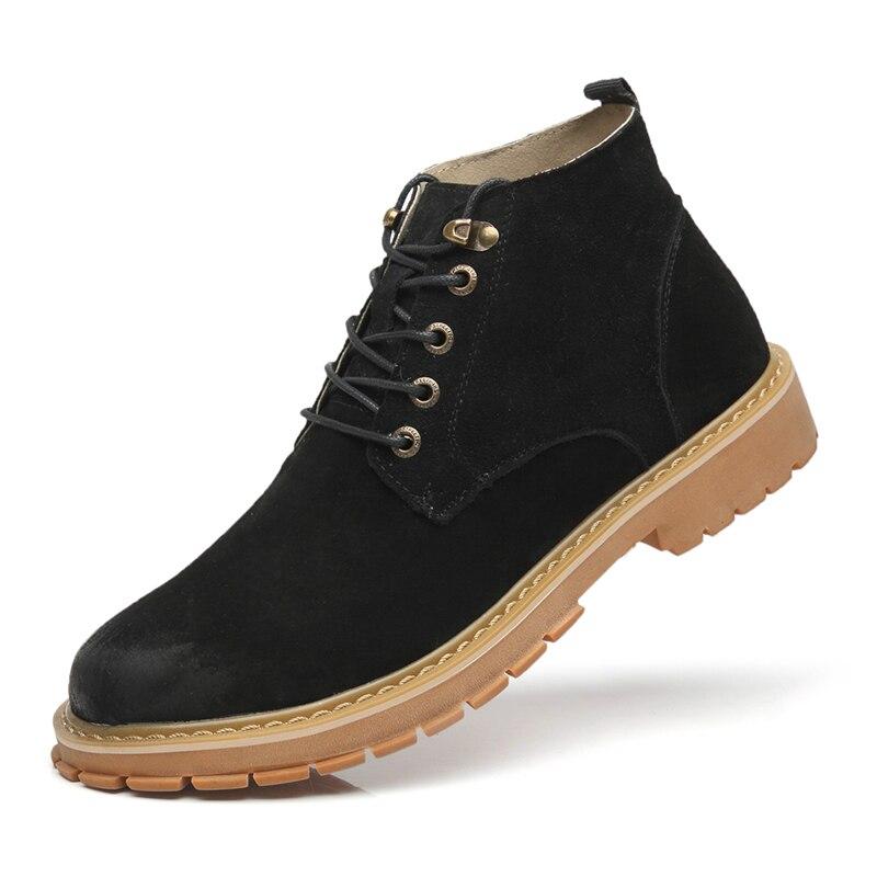 Couro Plus pierce Construção Segurança Botas Trabalho Genuíno Toe Do Calçados Mans Moda De Steel Trabalhador Anti Size Caps Masculina Site O48aOr