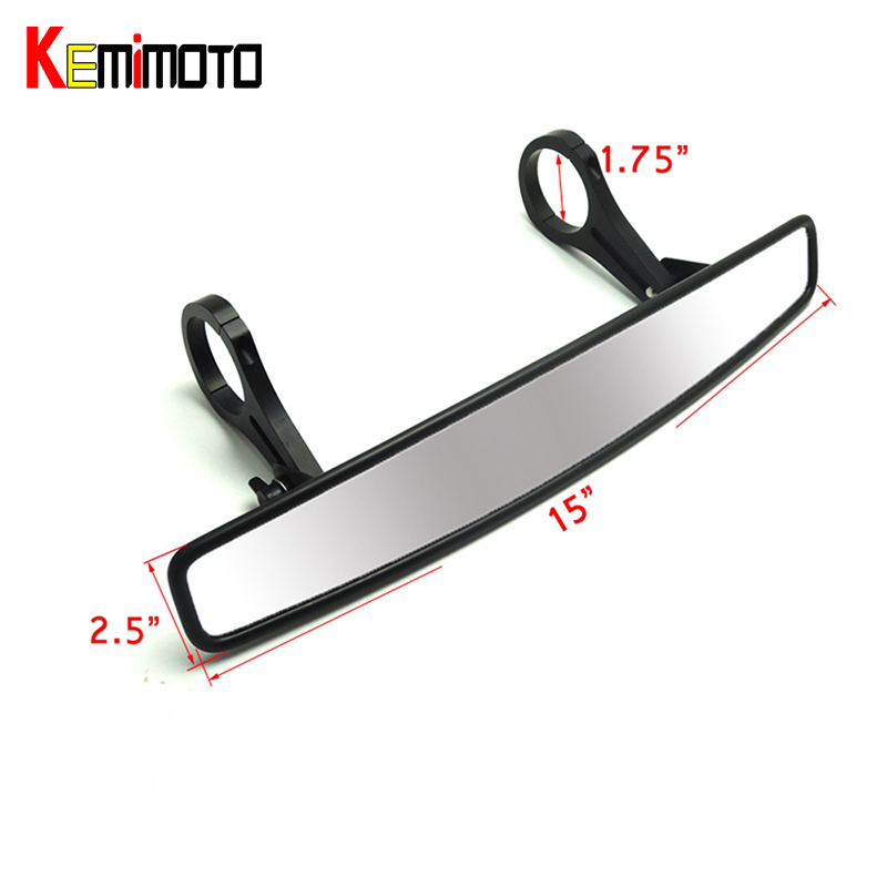 KEMiMOTO 1.75 Clamp UTV Wide Rear View Mirror Racing Mirror for Polaris Rangers RZR 800 1000 XP 900 1000 S For Yamaha Rhinos