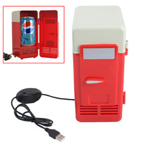 2017 New Arrival Cooler/Warmer Refrigerator Laptop PC Mini USB Fridge new Beverage Drink Cans Refrigerator Cooler