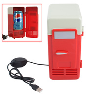 2017 Novo Chegada Cooler/Warmer Frigorífico PC Portátil Mini USB Frigorífico novo Bebidas Latas de Bebidas Refrigerador Geladeira
