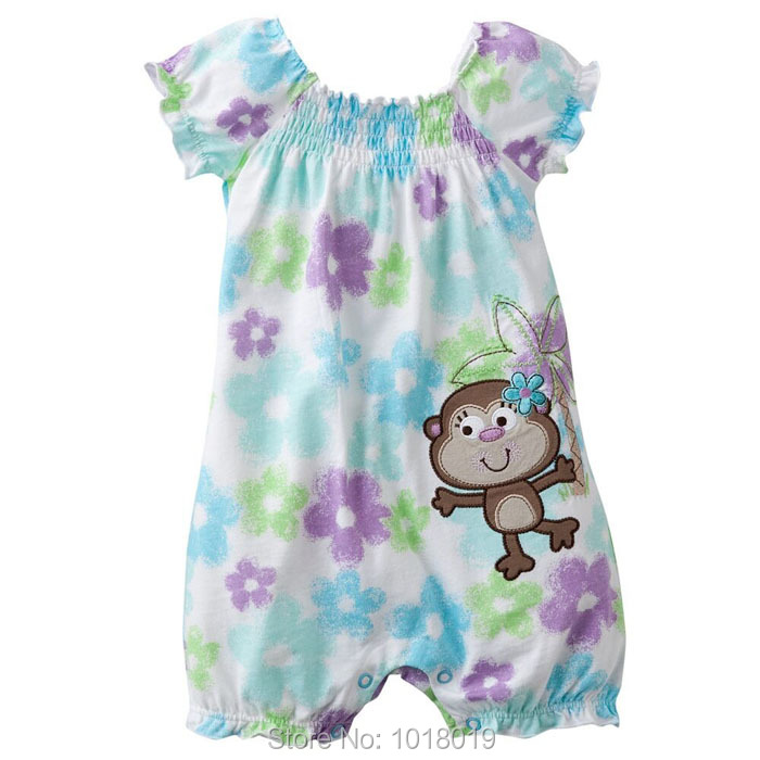 Branded New Quality 100% Cotton Newborn Baby Girl Clothing Clothes Romper Ropa Bebe Creepers Jumpsuits Baby Girls Rompers Summer