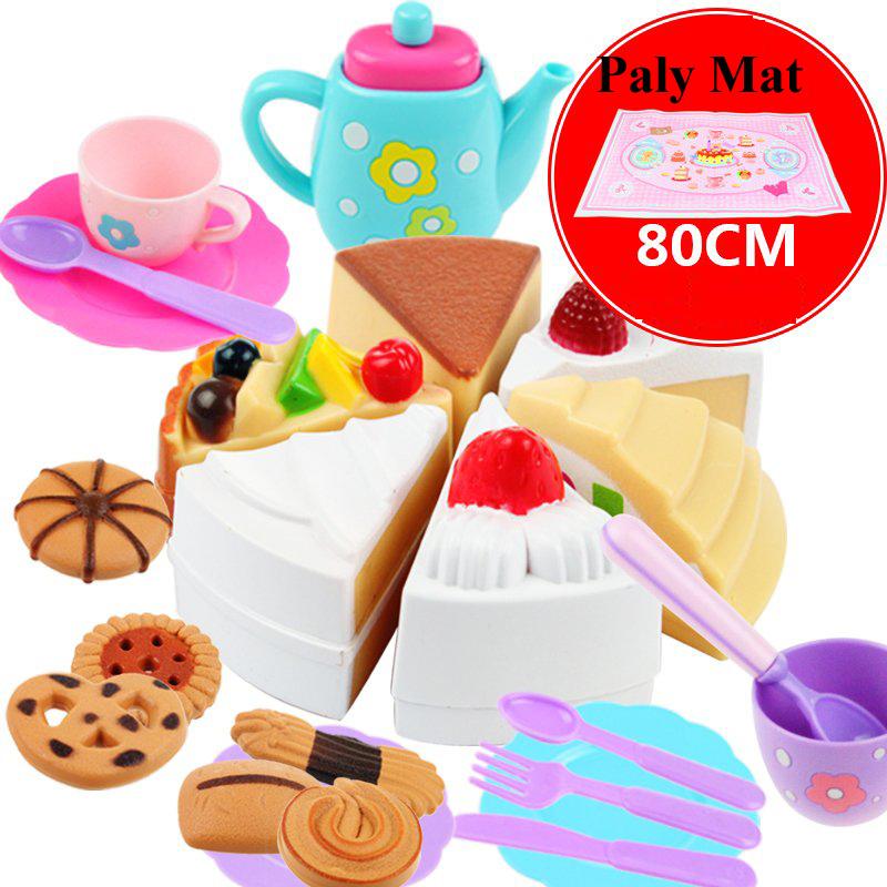 los nios de juguete jugar a las casitas cocina tetera conjunto mini juguetes diy torta de