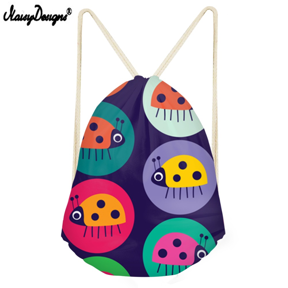 NOISYDESIGNS Spot The Big Bug Printed Drawstring Bag Travel Zaino Backpack For Children Daily Boys Girls