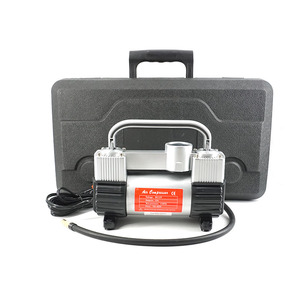 Image 5 - GSPSCN bomba inflable de doble cilindro con maleta, compresor de aire para coche, 12V, con caja de herramientas, inflador portátil de doble cilindro