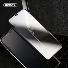 REMAX غطاء كامل من الزجاج المقسى لهاتف iPhone X Xs واقي للشاشة ثلاثية الأبعاد زجاج واقي لهاتف iPhone Xs Max على iPhone XR