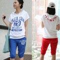 Moda conjunto de maternidade esportes ternos roupas grávida Lazer paletó e calças para mulheres grávidas roupas