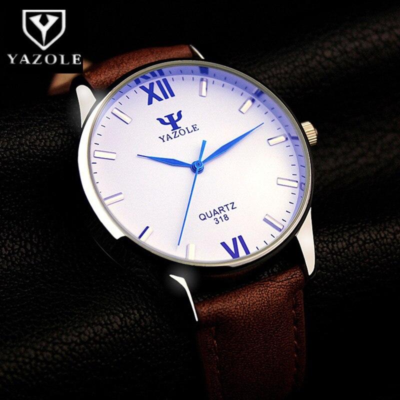 YAZOLE Luxury Blue Glass Wrist Watch Men Watch Men's Watch Waterproof Watches Clock relogio masculino relojes para hombre hombre led relojes con pantalla acero inoxidable relojes de cuarzo estilo deportivo backlight masculino relogio commander watch