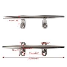 Base Boat Dock Deck Rope Cleat Marine Bollard Yacht Stainless Steel 8″/10″/12″ sailing Lock bolt Marine Hardware