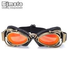BJMOTO мотоциклетный шлем стимпанк, очки летные защитные очки, винтажные пилотные байкерские очки, очки