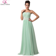Grace Karin Robe De Soiree Long Evening Dresses Sleeveless Chiffon Formal Gowns Elegant Special Occasion Wedding Party Dresses