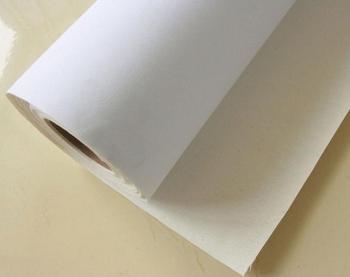 Wodoodporna 17in * 18 m rolka do drukarek atramentowych matowa bawełna płócien do drukarek atramentowych drukarki tanie i dobre opinie Papier fotograficzny colormaker water based printer 17 *18m waterproof 380g matte surface white surface yellow back 380gsm