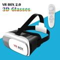 VR 2.0 Realidad Virtual 3D Vidrios Video con Bluetooth Mando a distancia Universal para 3.5 a 6 pulgadas Teléfonos Inteligentes