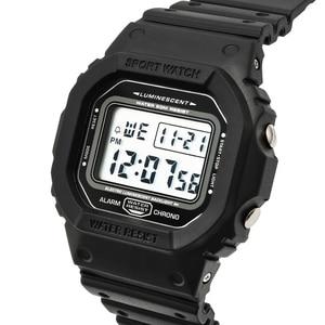 Image 2 - ספורט שעון גברים שעונים זכר ספירה לאחור שעון מעורר כרונו דיגיטלי שעוני יד 50M עמיד למים Relojes דה hombre דיגיטלי שעון