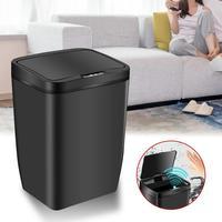 12L Home Office Vuilnisbak Automatische Sensor Prullenbak Inductieve Rvs Garbage Bin Smart Vuilnis Opslag