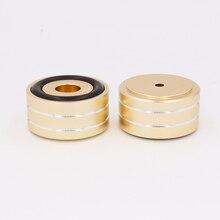 ゴールドアルマイトミニ製の脚分離パッド Dac CD ターンテーブルラジオアンプ Cnc 機械加工非スリップ