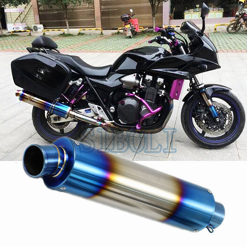 51MM Universal Motorcycle Modified Exhaust Pipe FOR Honda Ducati Muffler Scooter For CBR125 CBR250 CB400 CB600 YZF FZ400 SC042