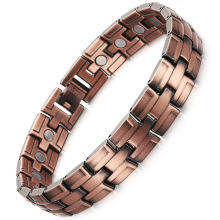 Male Copper Magnet Bracelet European and American Wind Trend Red