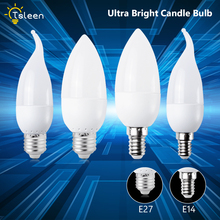 E14 Led Candle Bulb Energy Saving Lamp Lights 3W E27 220V LEDs Chandelier Light Spotlight bombilla for a Home Decor