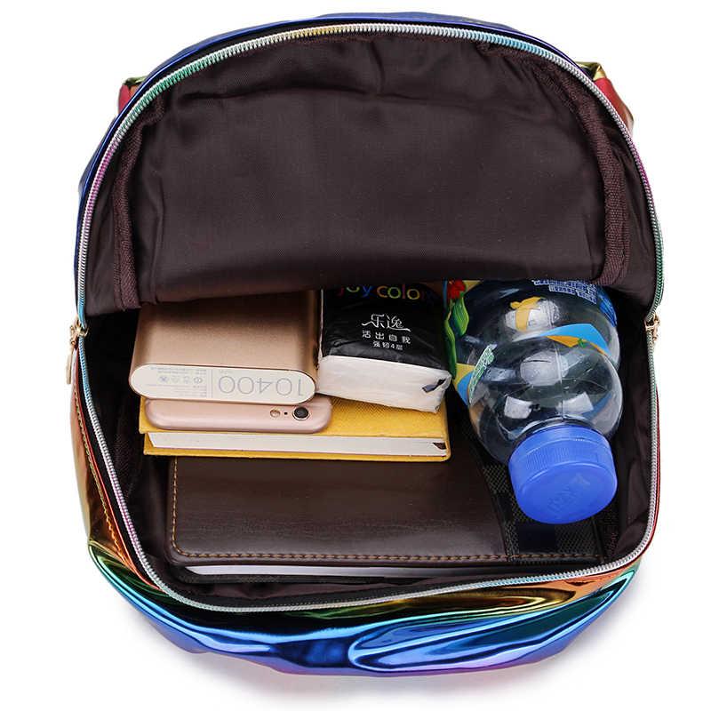 2019 цвет лазерной Школьный Рюкзак Для Девочки Прохладный дизайн мини маленький женский рюкзак сумка женский Mochila