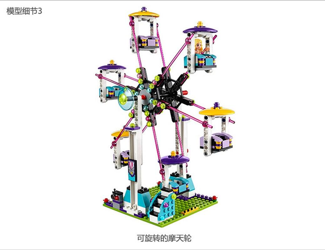 Image 5 - Bela 10563 1136pcs Friends Series Amusement Park Roller Coaster Model Building Blocks Bricks Playgame Toys For Children 41130-in Blocks from Toys & Hobbies