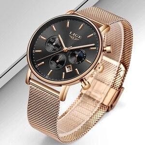 Image 2 - 2020 Nieuwe Vrouwen Gift Klok Luik Fashion Brand Quartz Horloge Dames Luxe Rose Gouden Horloge Vrouwelijke Horloge Vrouwen Relogio Feminino