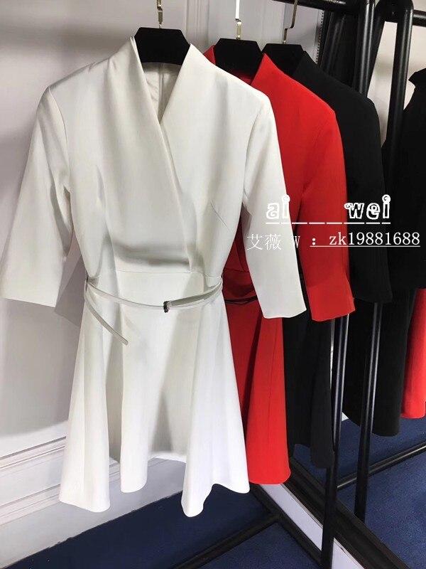 2018 new High Quality fashion Dress Runway Dresses Summer Womens Brand Luxury Dress Women's Clothing A07572
