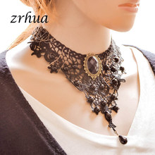 ZRHUA Ladies Choker Fashion Lace Necklace Black Women Collar Party Jewelry Neck Accessories Chokers Hot Sale ras de cou dentelle(China)