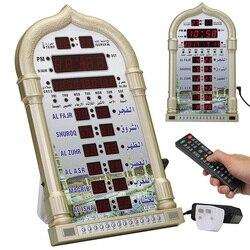 Digital Home Decor Gift Azan Clock Mosque Ramadan Muslim Prayer Islamic Music Playing Time Reminding Calendar Led Wall Table