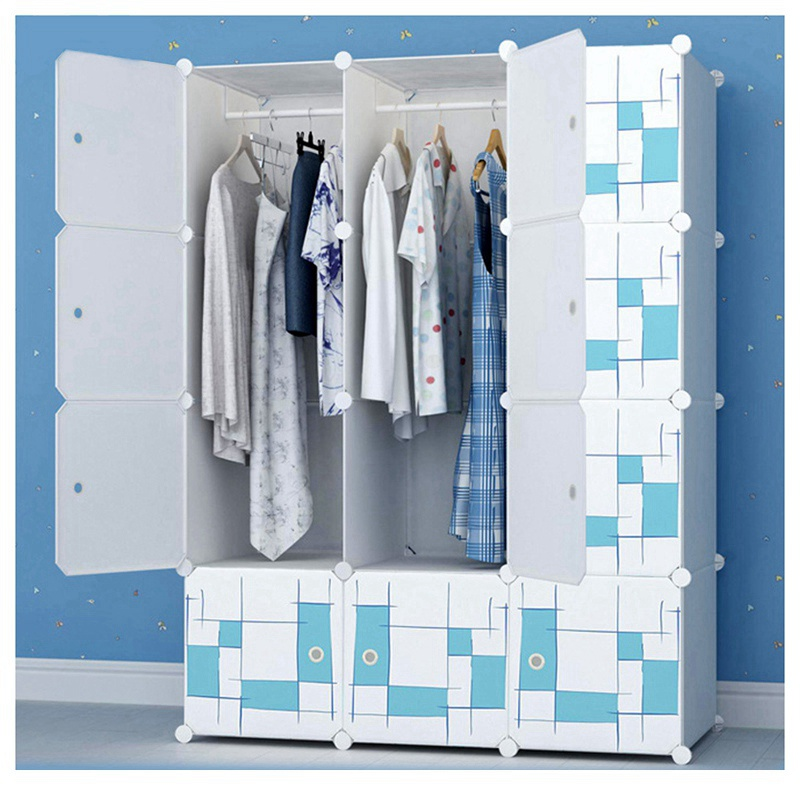 Hot Wardrobe Furniture Bedroom Wardrobe Closet Home Storage Cabinet Large Capacity Wardrobe Reinforcement Receive Stowed Clothes wardrobe extra large eco friendly cartoon hanging clothes cabinet wardrobe storage box wire combined type child simple