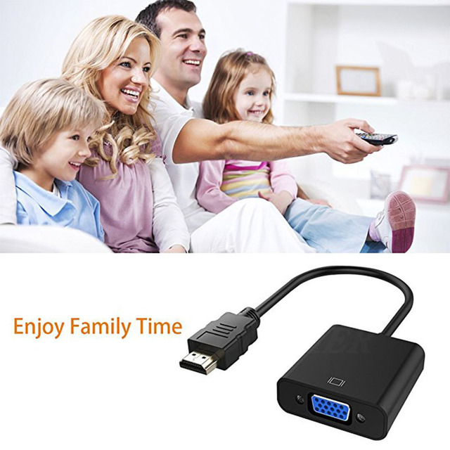 COOLJIER HDMI to VGA Cable Converter Digital Analog HD 1080P For PC Laptop Tablet HDMI Male To VGA Famale Converter Adapter 2