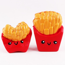 10.5cm Cute Simulation French Fries Squishy Slow Rising Soft Stuffed Squeeze Toys Kids Grownups Stress Relax Toy for Children jumbo squishy french fries chips slow rising