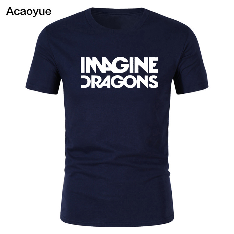 Hip-hop Imagine Dragons Rock Music Men's   T  -  Shirt     T     Shirt   For Men 2018 New Short Sleeve O Neck Cotton Casual Top