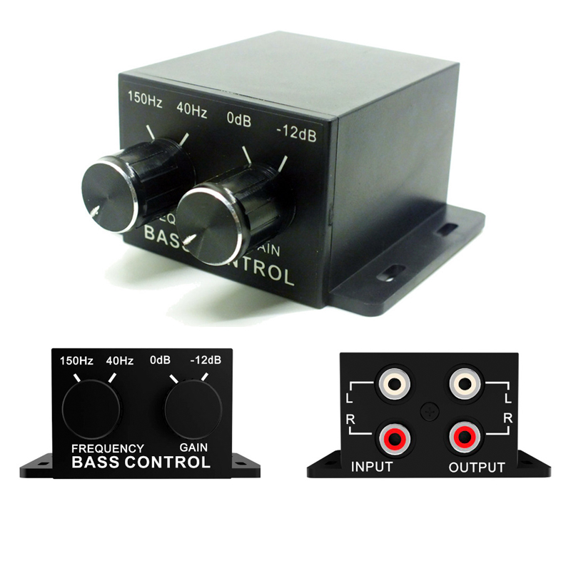 Car Booster Home Amplifier Subwoofer Bass RCA Stereo Line Level Volume Amp