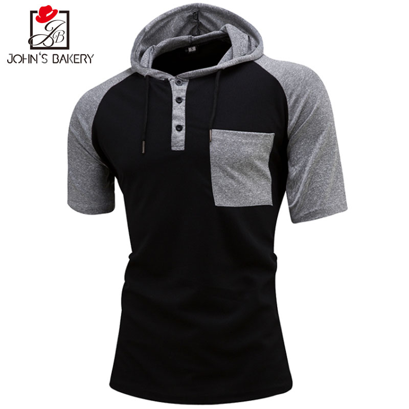 New Time-limited Spandex Brand 2018 Male Slim Fit T Shirt Button Mens Cotton Short Sleeve T-shirts Men Summer Tee Casual T shirt