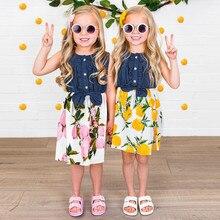 2dca0df1d MUQGEW bebé niñas vestido de verano vestido de ropa de bebé niñas sin  mangas lemon melocotón vestido empalme vestidos de ropa