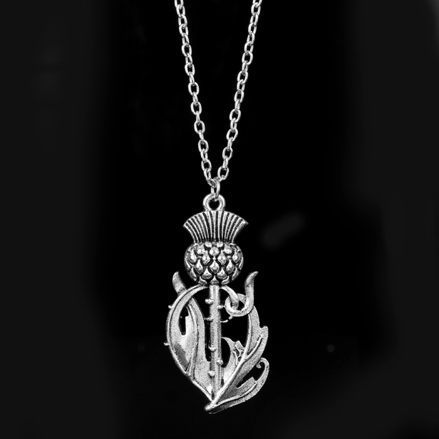 Dongsheng newest outlander scottish national flower pendant necklace dongsheng newest outlander scottish national flower pendant necklace scotland thistle necklace wings lovely thistle jewelry aloadofball Image collections