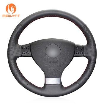 MEWANT Black Artificial Leather Car Steering Wheel Cover for Volkswagen VW Golf 5 (V) Plus Passat Variant Tiguan Touran - discount item  21% OFF Interior Accessories