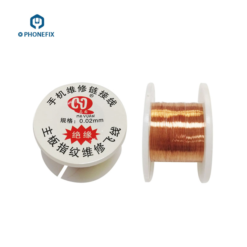 PHONEFIX 0.01mm 0.02mm Insulated Copper Link Wire Soldering Jumper Wire For Phone Motherboard PCB  BGA Chip Welding Repair Tool