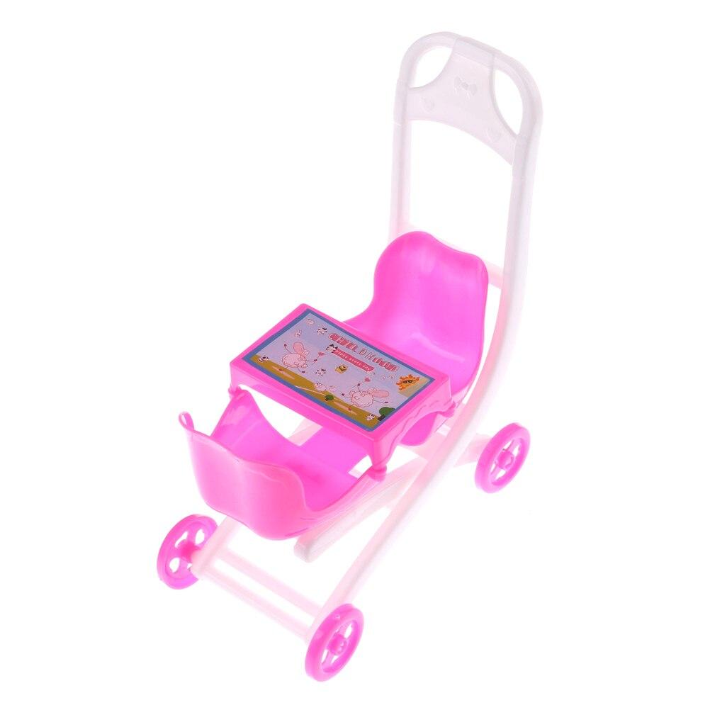 1 шт. 11*15*7 см коляска Двухместный коляски Аксессуары для Барби Келли куклы игровой дом игрушка