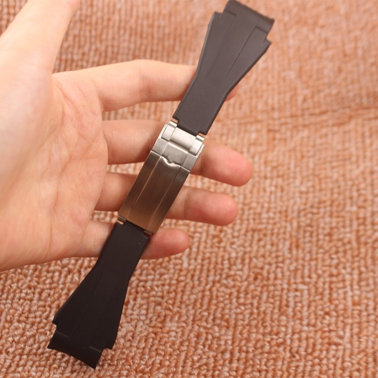 Top Grade 21mm Black Silicone Rubber Watchband Waterproof Strap For Deepsea watch Free shippingTop Grade 21mm Black Silicone Rubber Watchband Waterproof Strap For Deepsea watch Free shipping
