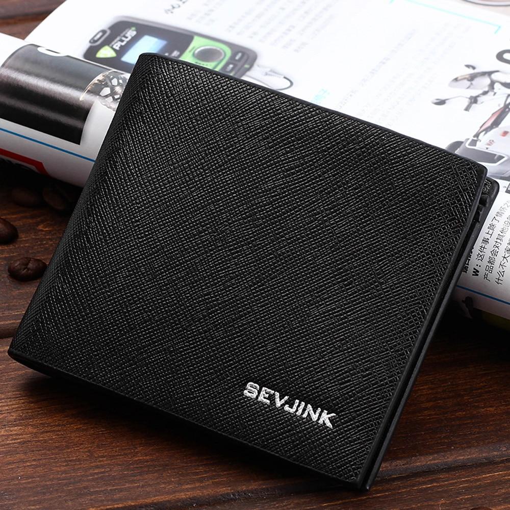 Men Fashion Solid Color Cross pattern Multi Card Position Wallet Cardholder Wallet Men Credit Holder Card Mini Wallet