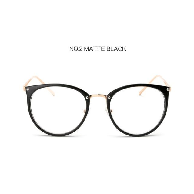 7cb3ea5346 UVLAIK Clear Lens Cat Eye Glasses Frame Women Fashion Oversized Spectacle  Frames Transparent Optical Eyeglasses Clear Eyeglass