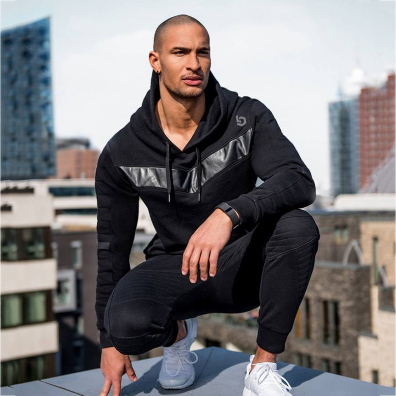 Sport Suit Men Jogging Running Gym Clothing Sweatshirt Male Fitness Bodybuilding Sportswear Mens Hoodied+Pants Jogger Top Sports 3