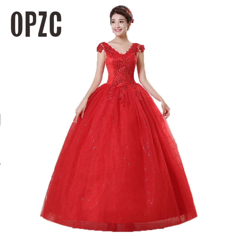 New Spring and Summer cheap white wedding frock lace up princess wedding dress romantic wedding gown