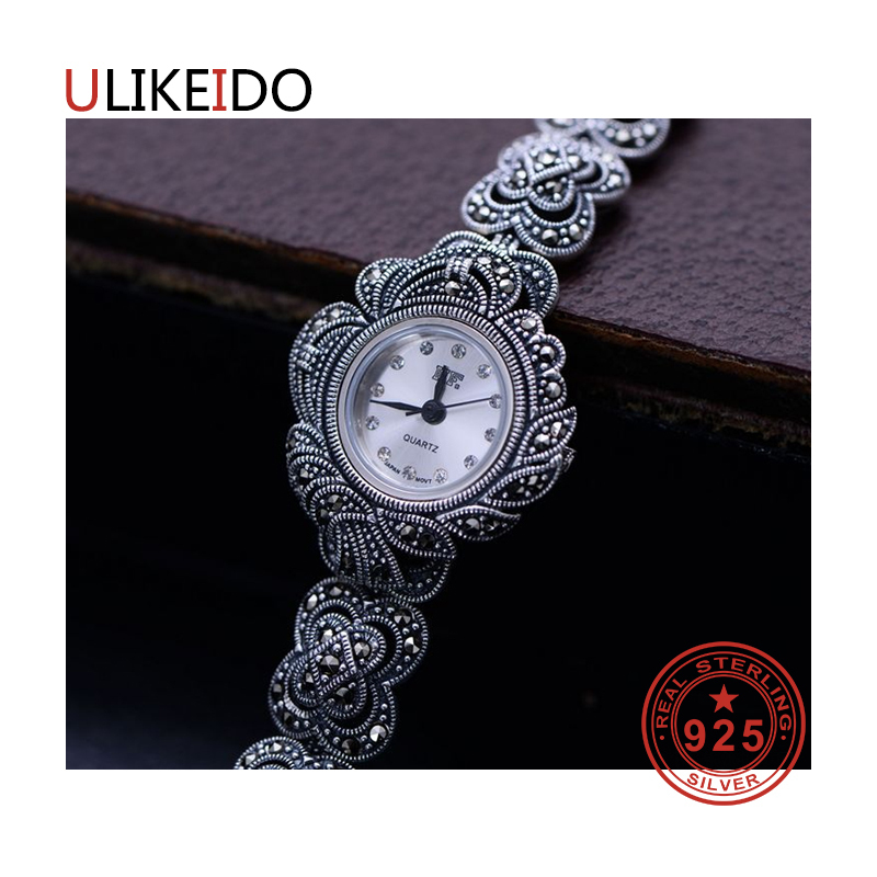 100% Pure 925 Sterling Silver Watch Men Fashion Hand Chain For Women Thai Silver Jewelry Charm Bracelet Homme 1513 925 sterling silver mens bracelets fashion domineering classic hand chain for men and women special jewelry charm bracelet 267