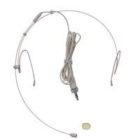 Gratis verzending top kwaliteit pro condensator headset headset microfoon 3.5mm vlees kleur voor stage onderwijs versterker bodypack