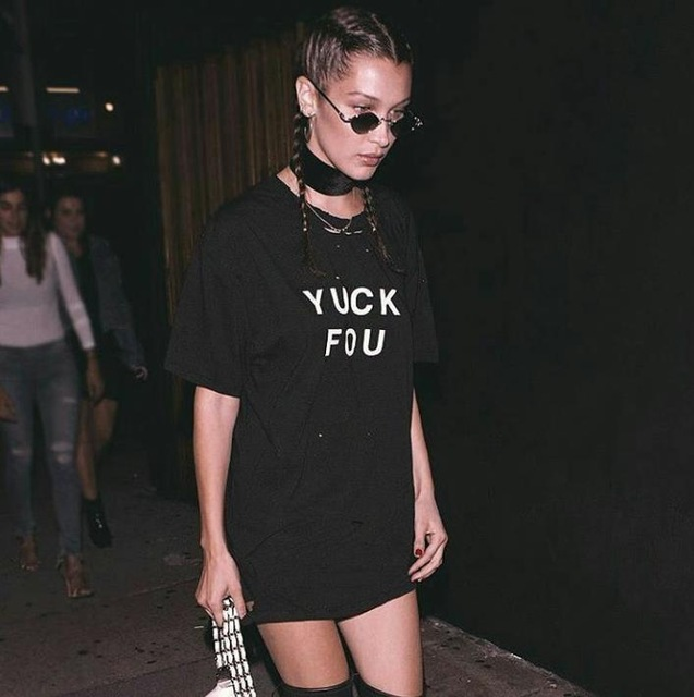 YUCK FOU Cactus Pocket Print Women Tshirt Cotton Casual Funny T Shirt For Lady Top Tee Hipster Black Drop Ship