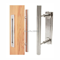 Express Free Shipping 6PCS Stainless Steel Barn Door Handle Pull Wooden Sliding Door Handle Knob CP431