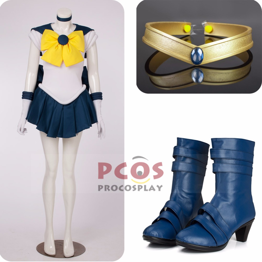 Best Price Set~ Sailor Moon Sailor Uranus Haruka Tenoh Cosplay Costume & headwear & Boots mp000703